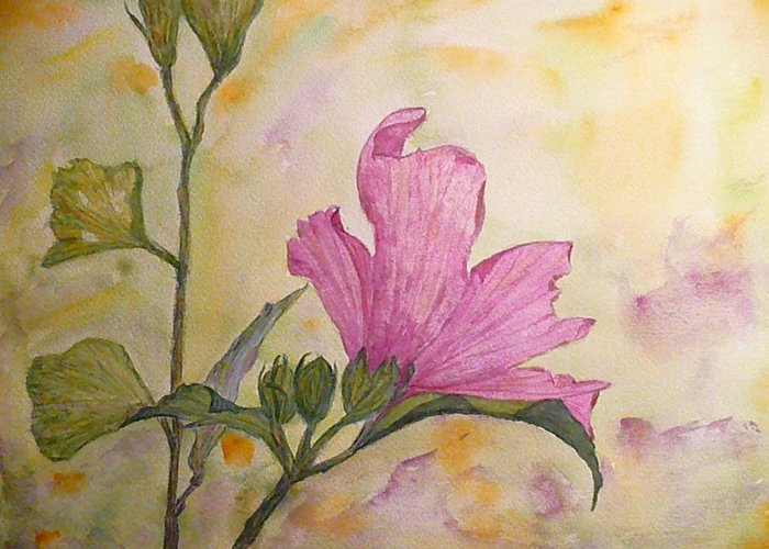 Althea Greeting Card featuring the painting Althea by Stella Schaefer