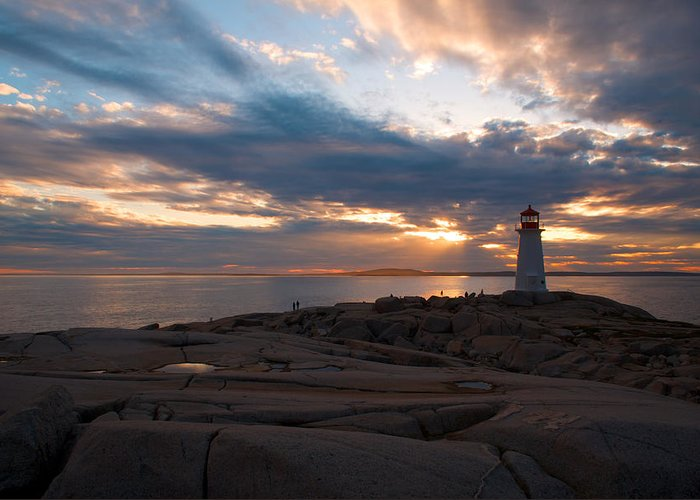 Sunset Greeting Card featuring the photograph Amazing Sunset At Peggy's Cove by Andre Distel