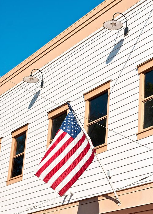 4th Greeting Card featuring the photograph American Flag by Tom Gowanlock