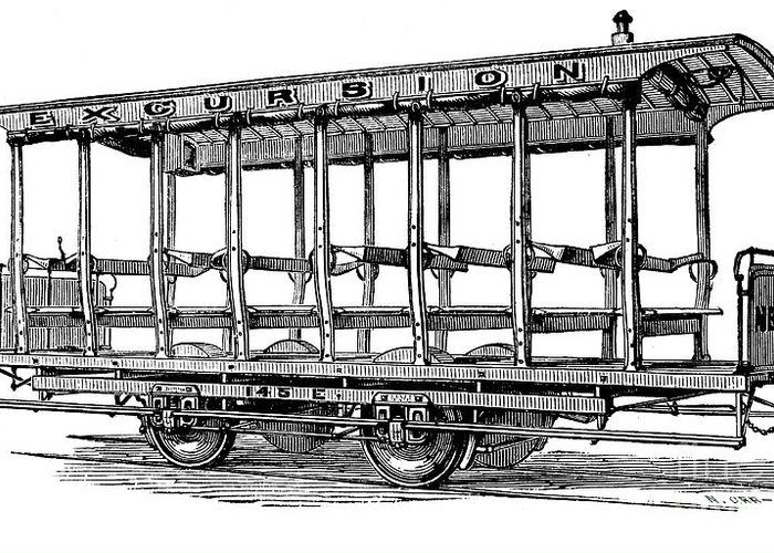 1880s Greeting Card featuring the photograph American: Streetcar, 1880s by Granger