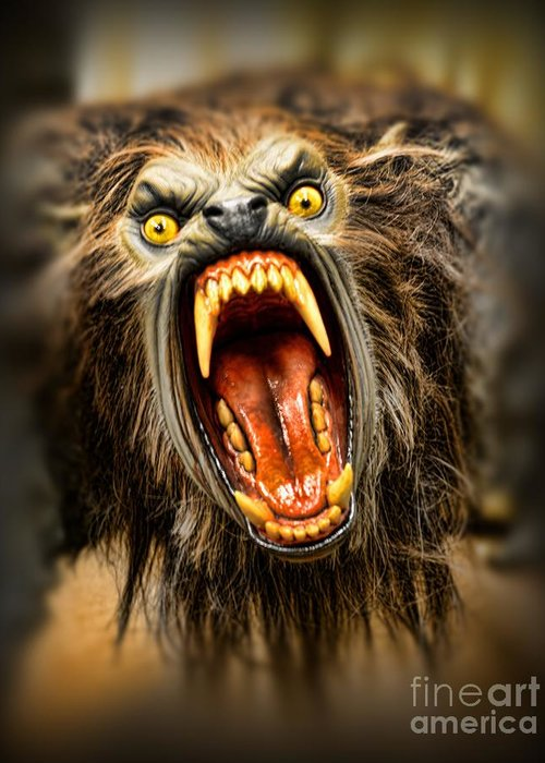 American Werewolf In London Greeting Card featuring the photograph American Werewolf by Paul Ward