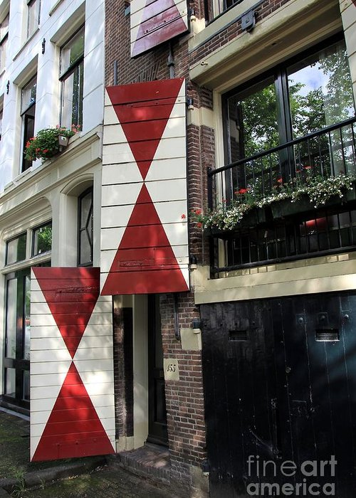 Amsterdam Greeting Card featuring the photograph Amsterdam House Facade by Sophie Vigneault