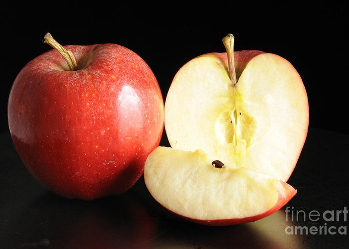Apple Greeting Card featuring the photograph An Apple A Day... by Nancy Greenland