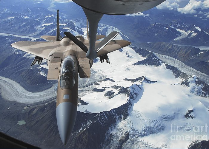 Adults Only Greeting Card featuring the photograph An F-15c Eagle Aircraft Sits by Stocktrek Images