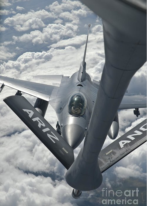 Transportation Greeting Card featuring the photograph An F-16 From Colorado Air National by Giovanni Colla