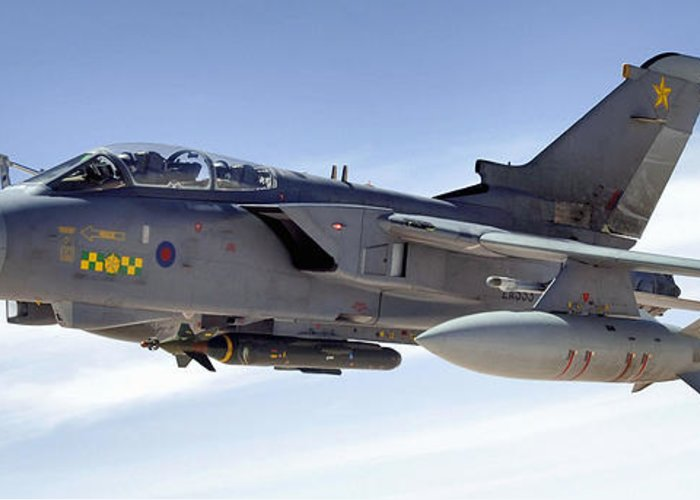 Horizontal Greeting Card featuring the photograph An Raf Tornado Gr-4 Takes On Fuel by Stocktrek Images
