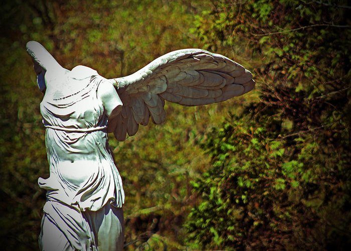 Statue Greeting Card featuring the photograph Ancient Flight by Nichole Leighton