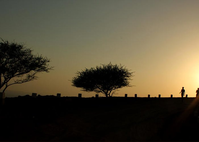 Silhouette Greeting Card featuring the photograph And The Day Ends Quietly.. by Saurabh Shenai