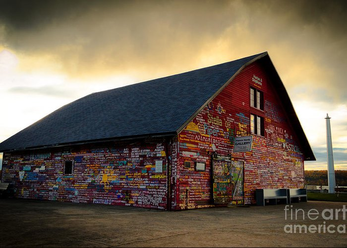 Door County Greeting Card featuring the photograph Anderson Barn At Dusk by Ever-Curious Photography