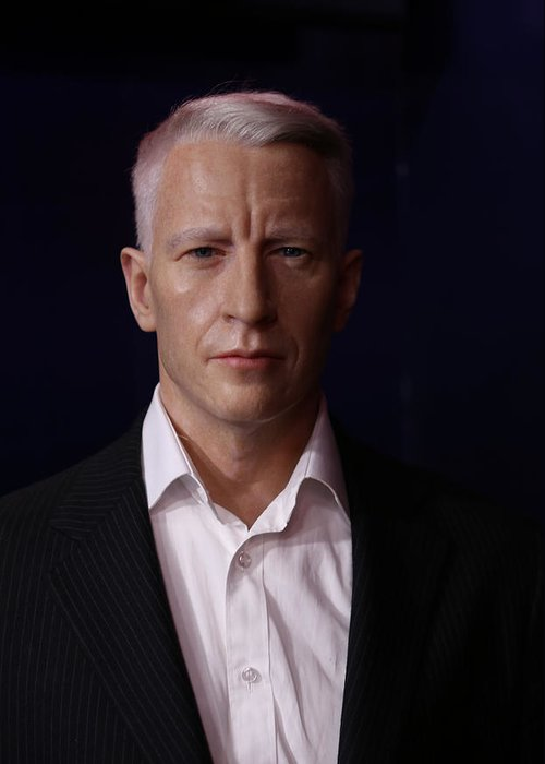 Lee Dos Santos Greeting Card featuring the photograph Anderson Hays Cooper - Cnn - Anchor - News by Lee Dos Santos