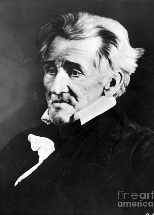 History Greeting Card featuring the photograph Andrew Jackson, 7th American President by Omikron