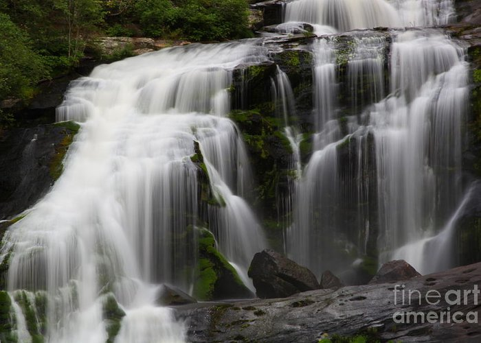 Bald River Falls Greeting Card featuring the photograph Angel Hair by Michael Womack