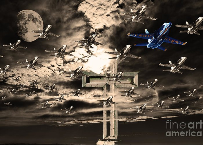 Transportation Greeting Card featuring the photograph Angels In The Sky by Wingsdomain Art and Photography