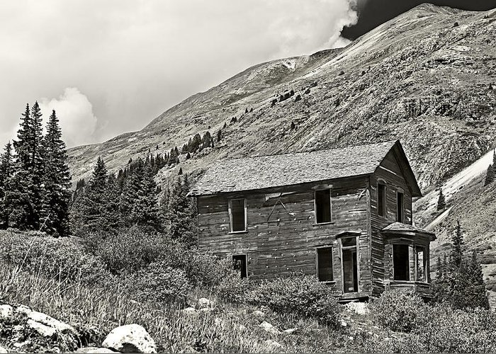 Abandoned Greeting Card featuring the photograph Animas Forks In Blackandwhite by Melany Sarafis