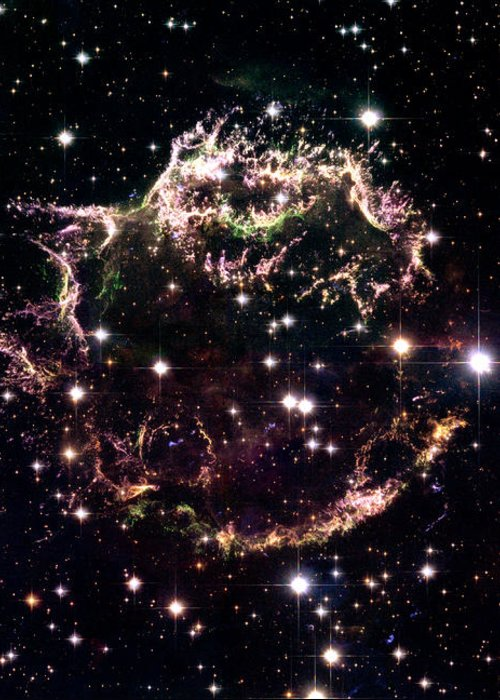 Stars Greeting Card featuring the photograph Animation Of A Supernova Explosion by Harvey Richer