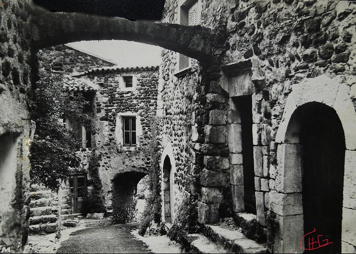 Colette Greeting Card featuring the photograph Another Residence In Childhood Alba France Ardeche by Colette V Hera Guggenheim