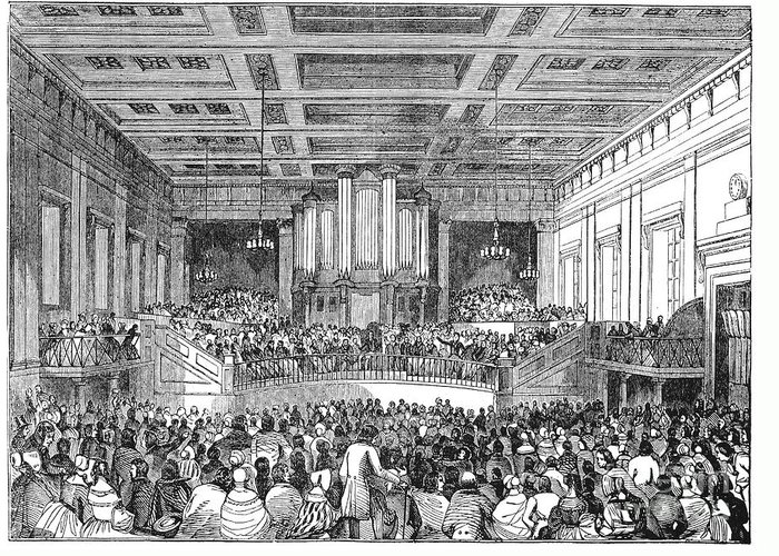 1842 Greeting Card featuring the photograph Anti-slavery Meeting, 1842 by Granger