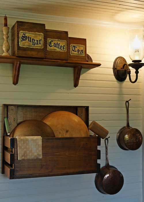 Antique Kitchen Greeting Card featuring the photograph Antique Kitchen Wares by Carmen Del Valle