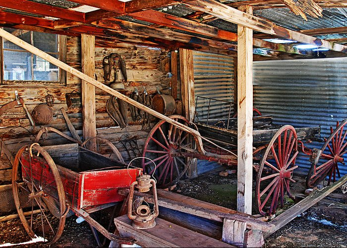 Photograph Greeting Card featuring the photograph Antique Shed by Melany Sarafis
