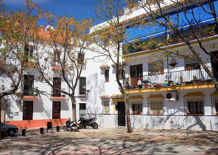 Marbella Greeting Card featuring the photograph Apartment Houses In Marbella by Artur Bogacki