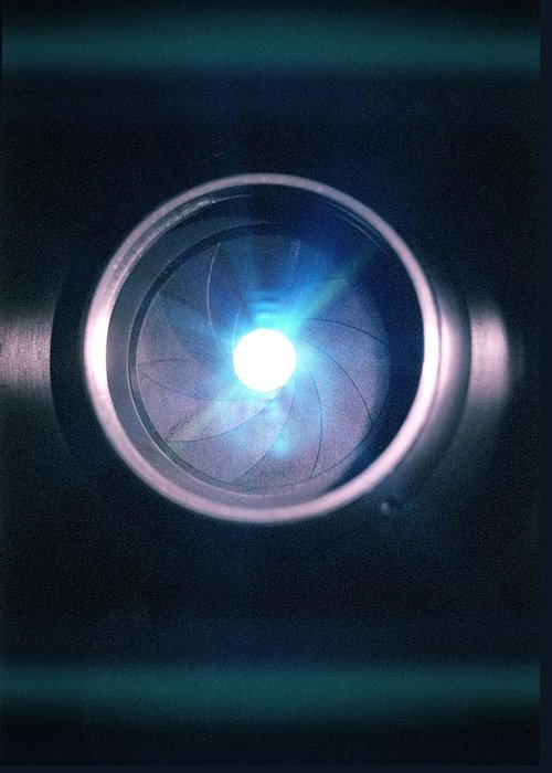 Lens Greeting Card featuring the photograph Aperture Flare by Richard Kail
