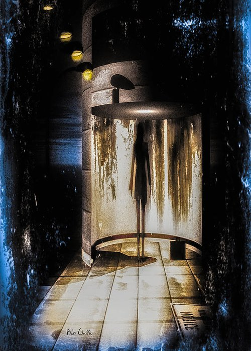 Apparition Greeting Card featuring the painting Apparition by Bob Orsillo