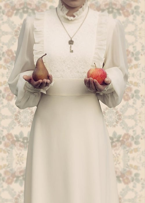 Woman Greeting Card featuring the photograph Apple And Pear by Joana Kruse