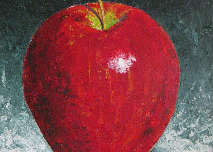 Apple Greeting Card featuring the painting Apple by Rollin Kocsis