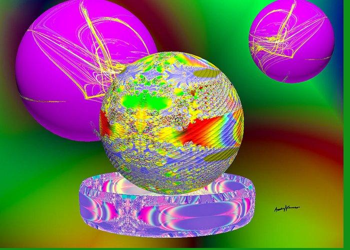 Fractal Orbs Digital Art Greeting Cards