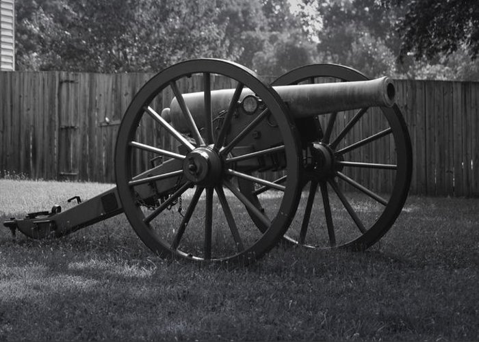 Appomattox Greeting Card featuring the photograph Appomattox Cannon by Teresa Mucha