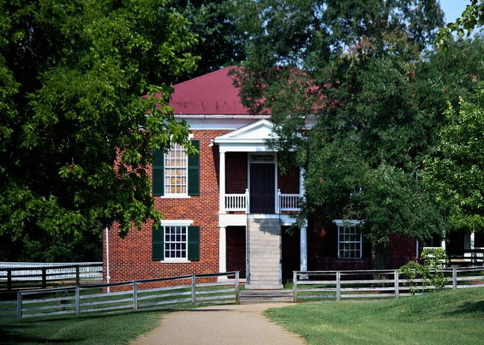 Appomattox Greeting Card featuring the photograph Appomattox County Court House 1 by Teresa Mucha