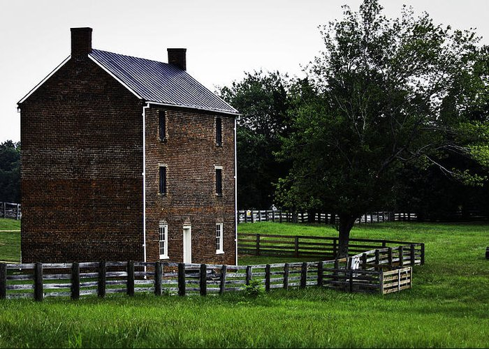 Appomattox Greeting Card featuring the photograph Appomattox County Jail by Teresa Mucha