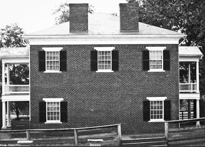 Appomattox Greeting Card featuring the photograph Appomattox Courthouse by Teresa Mucha