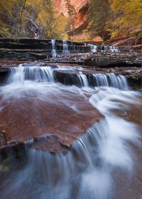 Arch Angel Falls Greeting Card featuring the photograph Arch Angel Falls by Joseph Rossbach