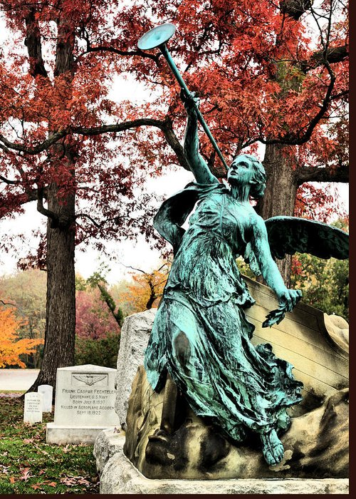 Arlington Cemetery Greeting Card featuring the photograph Archangel Gabriel by JC Findley