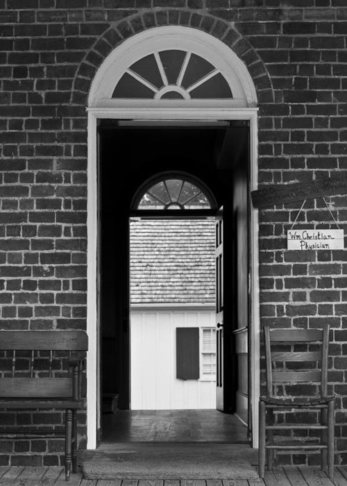 Appomattox Greeting Card featuring the photograph Arched Doors Appomattox Virginia by Teresa Mucha