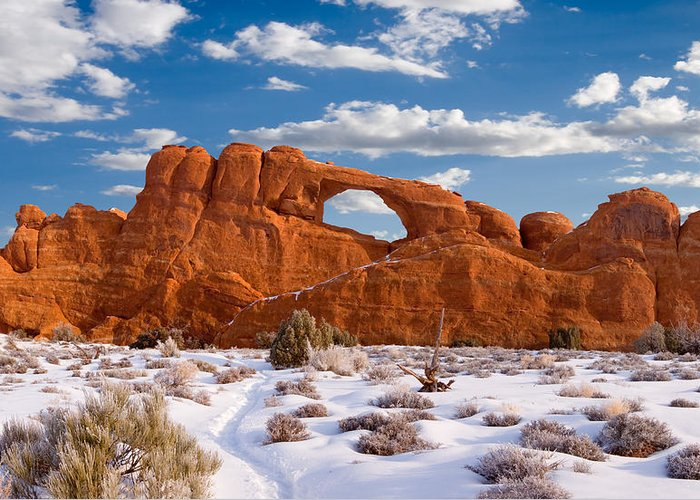 Skyline Arch Greeting Card featuring the photograph Arches National Park by Utah Images