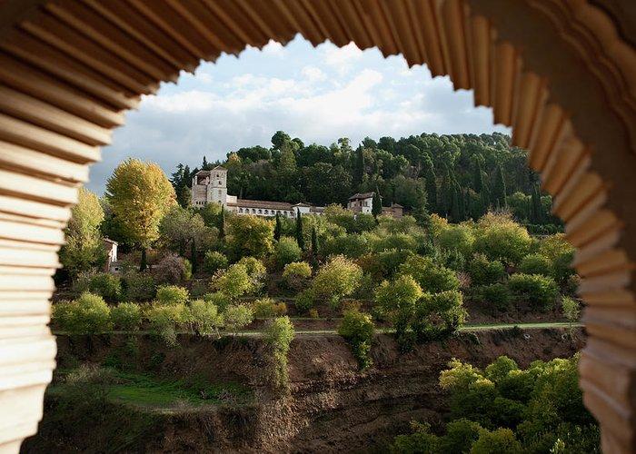 Granada Greeting Card featuring the photograph Archway Frame by Lorraine Devon Wilke