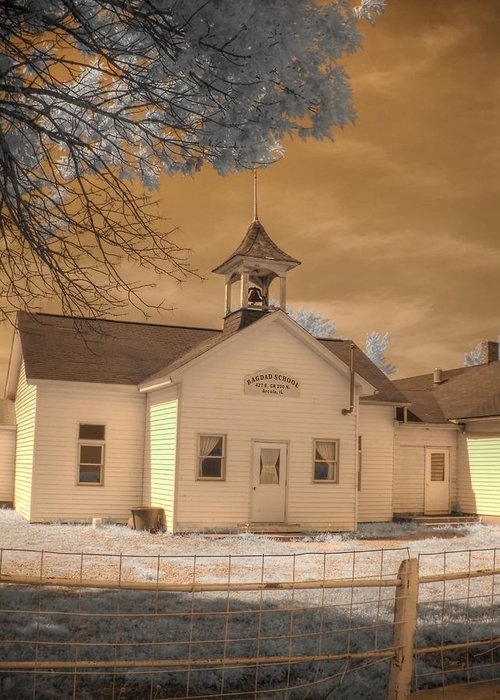 Arcola Greeting Card featuring the photograph Arcola Illinois School by Jane Linders