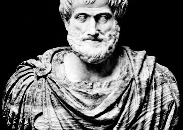 History Greeting Card featuring the photograph Aristotle, Ancient Greek Philosopher by Omikron