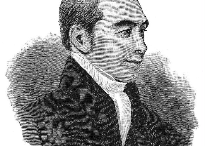 1824 Greeting Card featuring the photograph Arnold Buffum (1782-1859) by Granger
