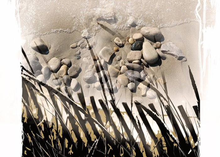 Sand Greeting Card featuring the digital art Art In The Sand Series 2 by Bob Salo