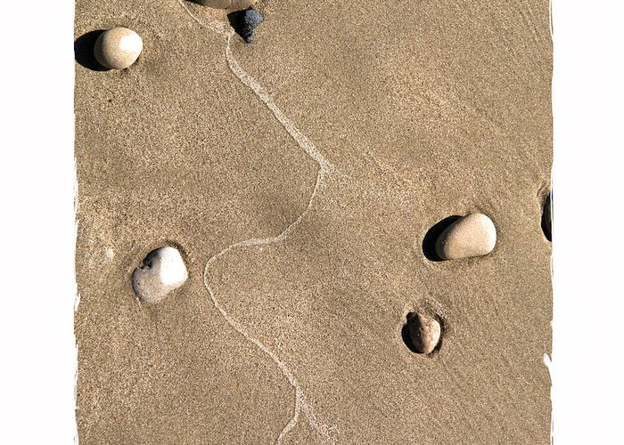 Sand Greeting Card featuring the digital art Art In The Sand Series 4 by Bob Salo