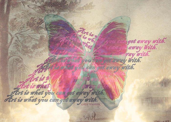 Butterfly Greeting Card featuring the digital art Art Is ..... by Yvon van der Wijk
