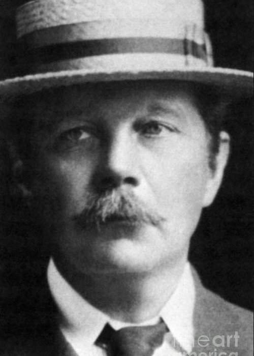 History Greeting Card featuring the photograph Arthur Conan Doyle, Scottish Author by Science Source