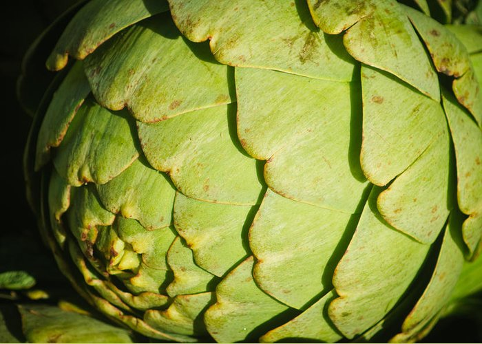 Harvest Greeting Card featuring the photograph Artichoke by Connie Cooper-Edwards