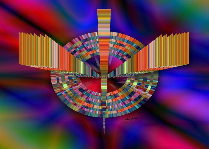 Abstract Greeting Card featuring the digital art Artifact by Anthony Caruso