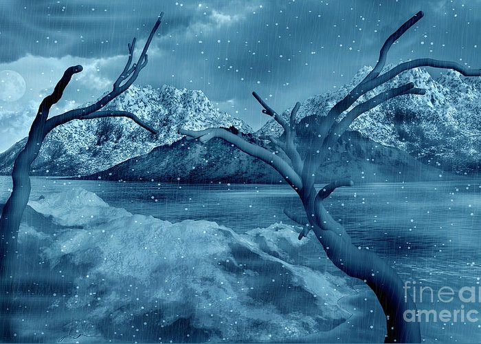 No People Greeting Card featuring the digital art Artists Concept Of A Dangerous Snow by Mark Stevenson