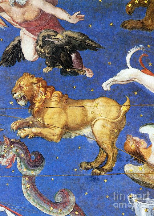 Painted Ceiling Greeting Card featuring the photograph Artwork In Villa Farnese, Italy by Photo Researchers