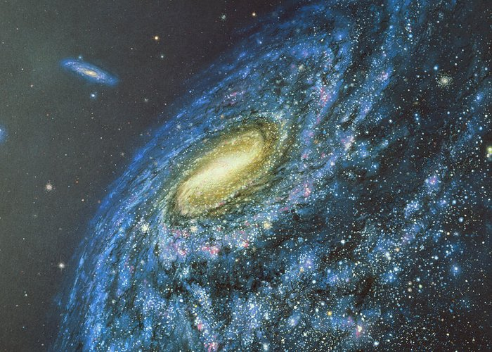 Milky Way Greeting Card featuring the photograph Artwork Of The Milky Way Viewed From Outside by Chris Butler
